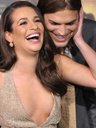 Ashton Kutcher &amp; Lea Michele: Friendly ... or Flirting?