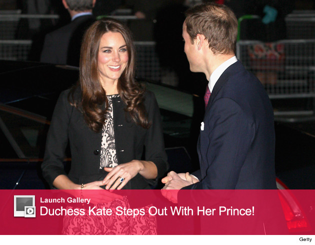 Kate Middleton Steps Out With Her Prince