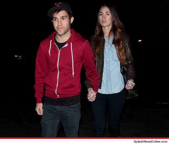 Pete Wentz with his NEW model girlfriend Meagan Camper