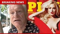 Hefner on Lindsay Lohan in Playboy -- The Leak Screwed Us, Releasing Issue EARLY