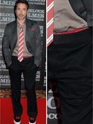 Robert Downey Jr. Has Red Carpet Wardrobe Malfunction