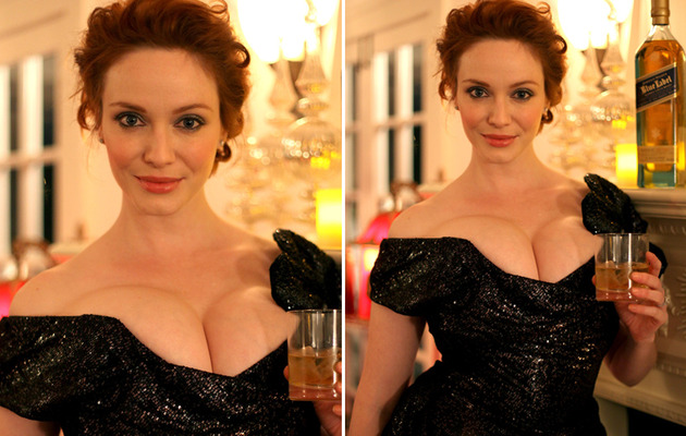 Christina Hendricks Busts Out of Another Dress!