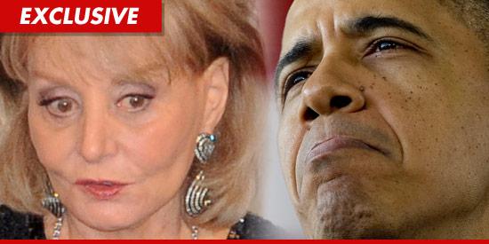 Barbara Walters and President Barack Obama