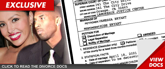 Vanessa and Kobe Bryant Divorce Documents