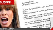 Melissa Rivers -- Porn Boyfriend, Porn Offer