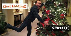 Kiefer Sutherland -- 'Tis the Season ... to ATTACK MORE XMAS TREES!