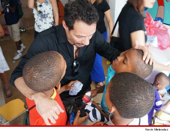 Marc Anthony at a Dominican Republic orphanage
