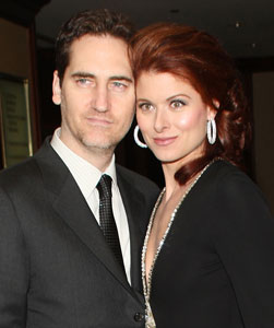 Debra Messing and husband