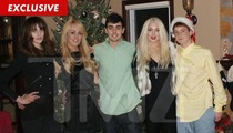 Lindsay Lohan & Family Christmas Photo -- Guess Who's Missing?