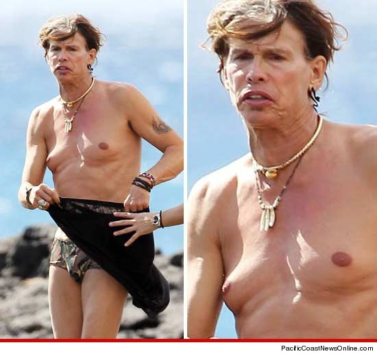 Steven Tyler shirtless