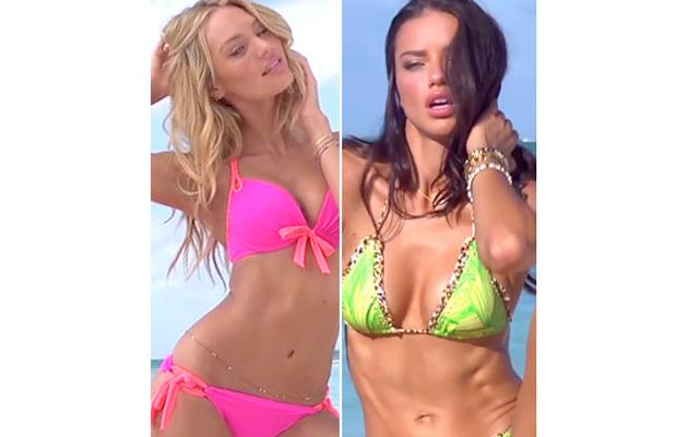 Adriana Lima & Candice Swanepoel's Sexy Bikini Video