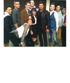 "Ricky Martin on ""Glee"" -- See First Set Pics!"