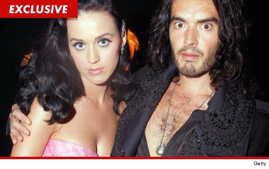 Katy Perry and Russell Brand before their divorce