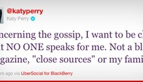 Katy Perry -- Takes Swipe at Her Parents via Twitter