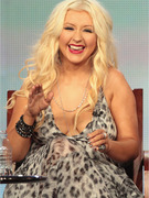 Christina Aguilera Almost Spills Out of Dress at TCAs