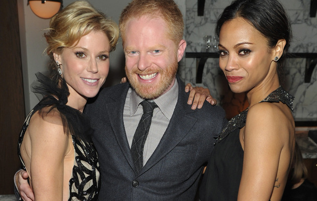 Zoe Saldana Goes Solo to Golden Globes Kick-Off Party!