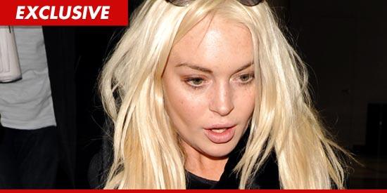 Lindsay Lohan blonde hair