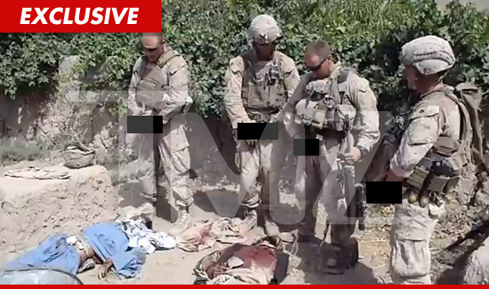 U.S. Marine Soldiers Urinating on Dead Bodies