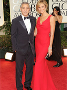 George Clooney &amp; Stacy Keibler Stun on the Red Carpet!