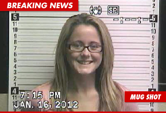 Teen Mom Jenelle Evans mug shot