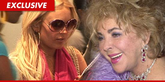 Lindsay Lohan and Elizabeth Taylor