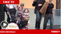 Halle Berry -- Three-Wheeling Mama Hits Up Disneyland