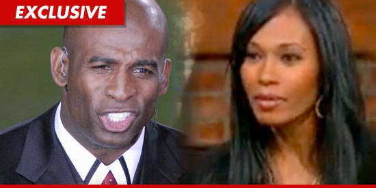 Deion Sanders and wife