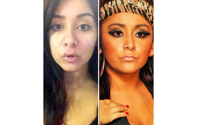 Snooki Stripped ... of All Her Makeup!