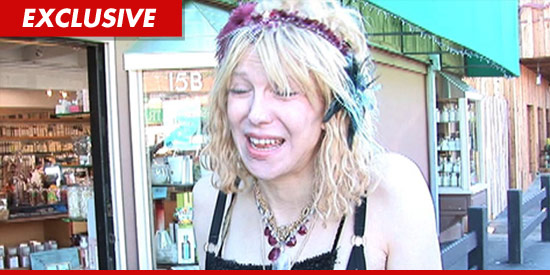 Courtney Love sad