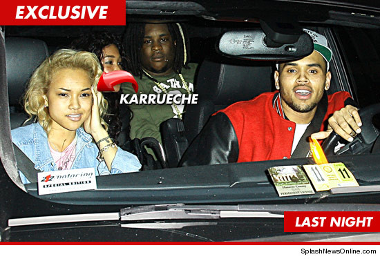 Karrueche Tran and Chris Brown in West Hollywood