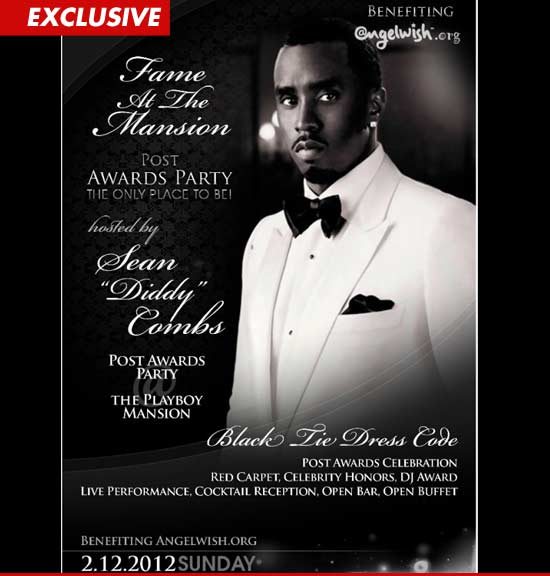 Diddy post-Grammy party invitations