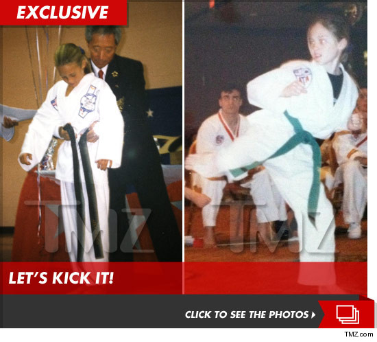 Brittany Kerr as a child doing taekwondo