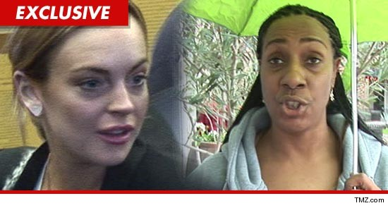 Lindsay Lohan and Dawn Holland