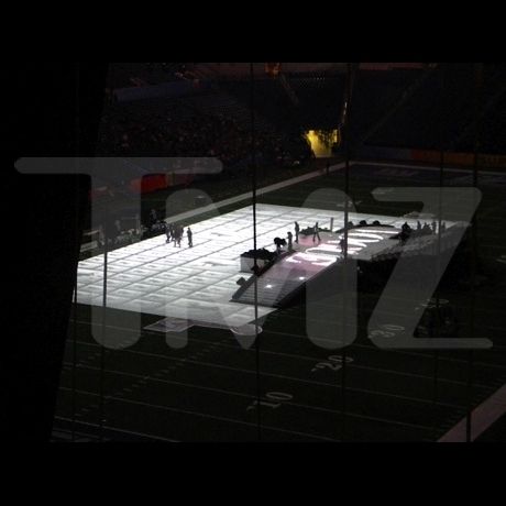 Super Bowl Halftime Stage