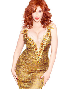 Christina Hendricks Talks Being Sexy in Revealing Dress!