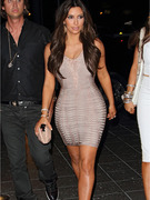Kim Kardashian Flaunts Figure in Bandage Dress ... Again!