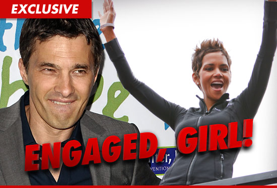 Halle Berry was not engaged to Olivier Martinez when numerous outlets reported she was back in December -- but we found out ... SHE IS NOW!!!