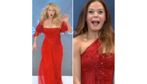 Rose McGowan & Christie Brinkley Get Tripped Up on Runway!