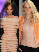 Male Model Andrej Pejic Poses In Women's Swimwear
