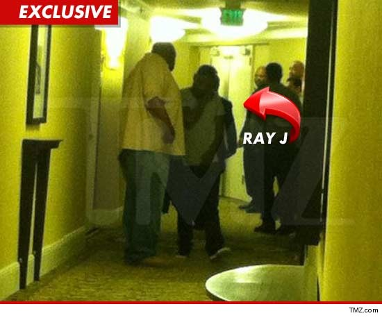 Ray J was home when he got the word Whitney Houston had died last night, but he was turned away by law enforcement at the hotel after he raced over to try and see her