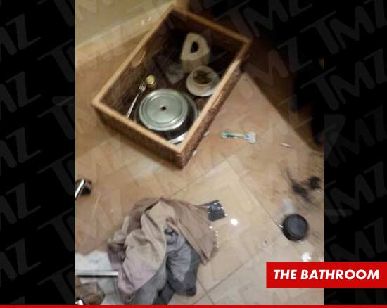 Whitney Houston's Final Meal -- Photos of Alcohol in Hotel Room