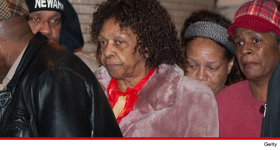 Cissy Houston, waited outside the home as well