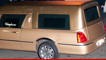 Whitney Houston -- Fans Greet Golden Hearse in New Jersey
