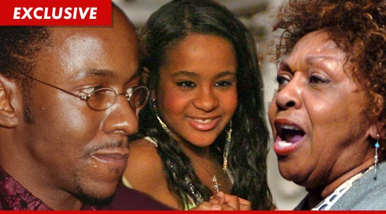 Cissy Houston is aggressively trying to block Bobby Brown from getting close to 18-year-old Bobbi Kristina