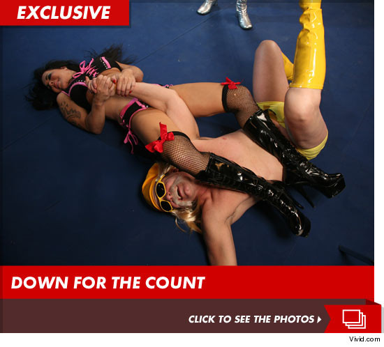 Chyna taking on 9 dudes at the same time ... for a porno movie