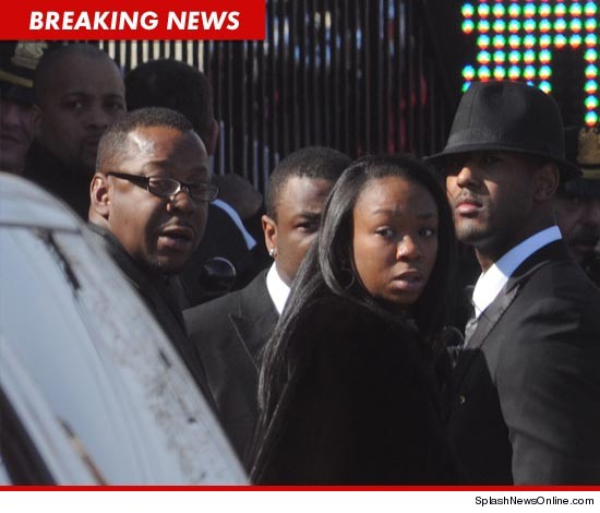 Bobby Brown has already left the church.