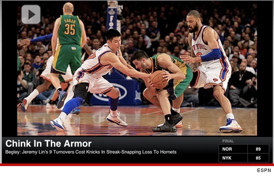 ESPN Headline Chink In the Armor