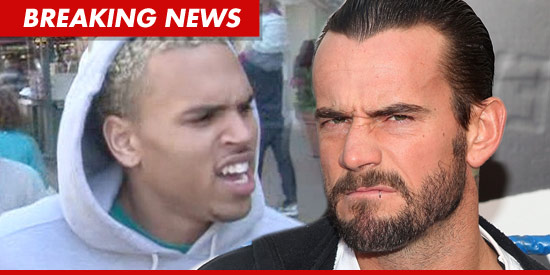 WWE heavyweight champion CM Punk has a dysfunctional wiener ... this according to Chris Brown.