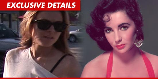 Lindsay just inked a deal with Lifetime to play Liz Taylor.