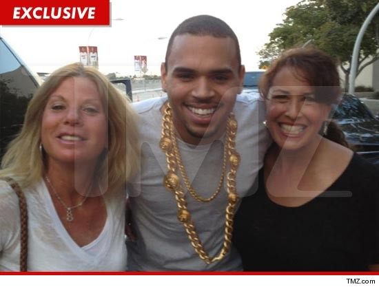 Chris Brown is not so camera shy after all